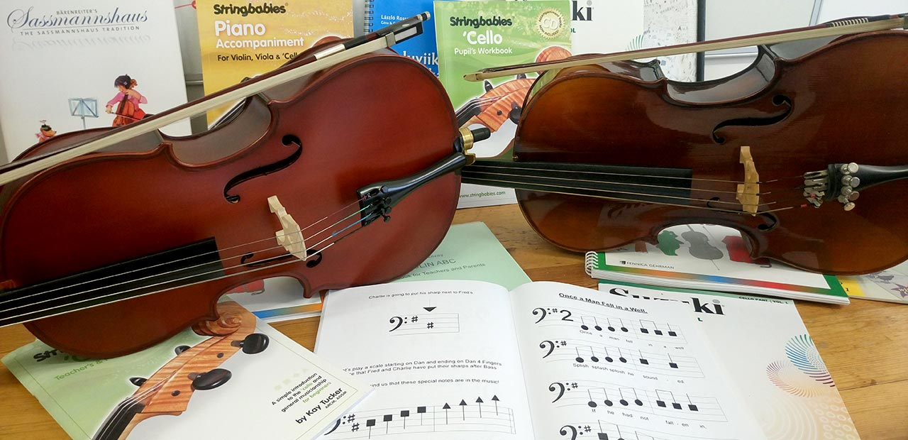 Small cellos and Stringbabies music books